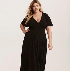 Torrid Flutter Sleeve Maxi Dress
